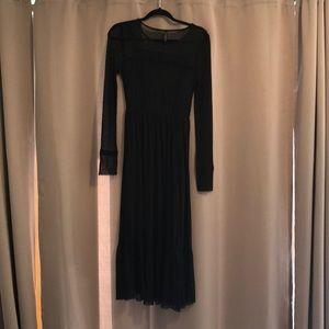 Black Polka/Mesh/Gothic inspired Dress Size L.